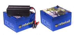 Rebel Cell LiOn Akku Batterie für Fischer - Die Kraft am Wasser - Volle Leistung über gesamte Leistungsabgabe - konstante Kraftabgabe bei Voll Last bis der Saft aus ist