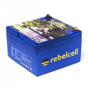 Rebelcell LiOn Akku Batterie für Fischer - Die Kraft am Wasser - Volle Leistung über gesamte Leistungsabgabe - konstante Kraftabgabe bei Voll Last bis der Saft aus ist