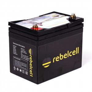 Rebel Cell LiOn Akku für Fischer 12V50A - Die Kraft am Wasser - konstante Kraftabgabe bei Voll-Last bis der Saft aus ist