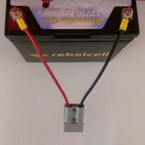 Kabelset für Ultimate 12v50 Rebel Cell LiOn Akku Batterie für Fischer - Die Kraft am Wasser - Volle Leistung über gesamte Leistungsabgabe - konstante Kraftabgabe bei Voll Last bis der Saft aus ist
