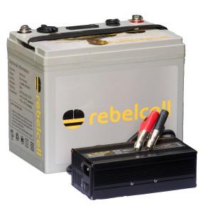 Rebelcell 24V50 Lithium Ionen Akku USB mit Ladegerät